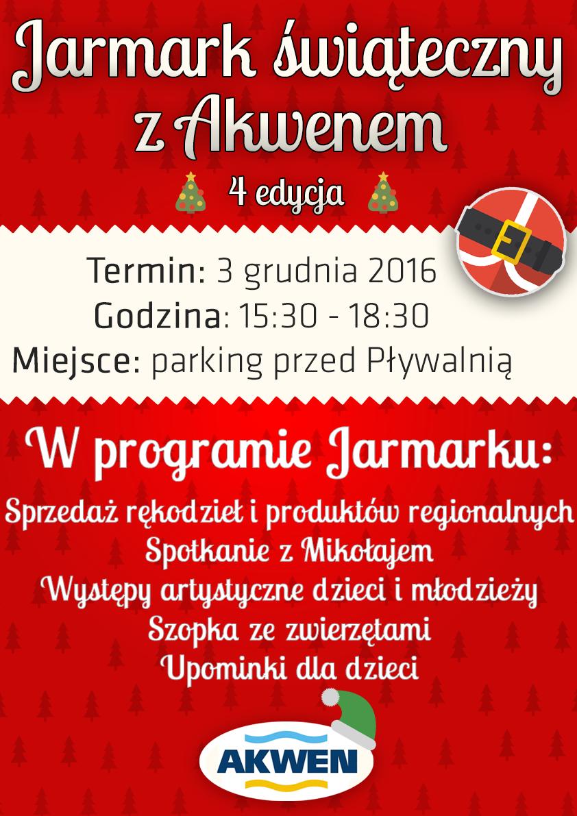 Jarmark Świąteczny z Akwenem - 3.12.2016