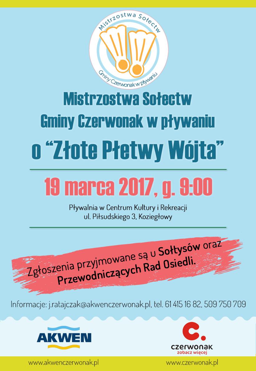 """XII Mistrzostwa Sołectw Gminy Czerwonak w Pływaniu o """"Złote Płetwy Wójta"""""""