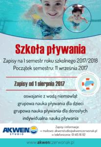 szkola plywania zapisy plakat