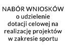 Nabór wniosków o dotację dla klubów sportowych