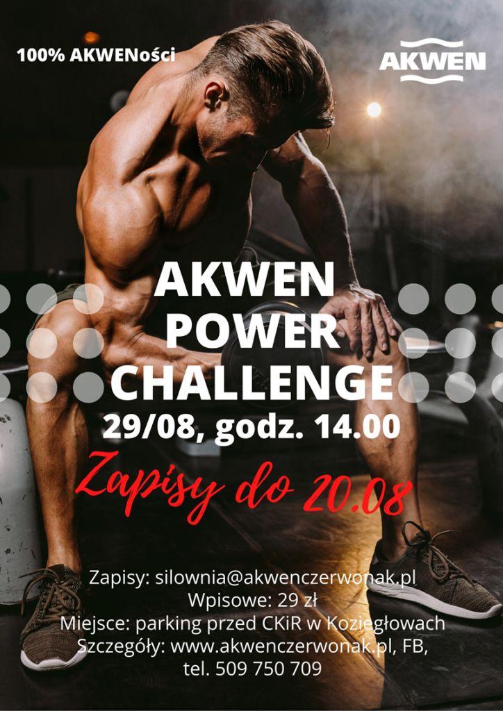 Plakat zawodów akwen power challeng