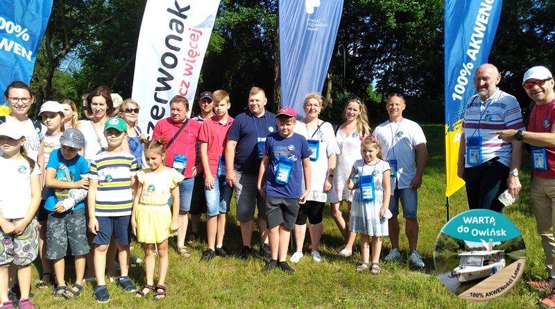 Uczestnicy projektu Wartą do Owińsk